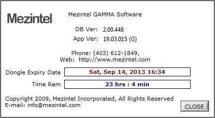About Mezintel Gamma window