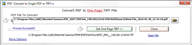 Notification is shown when the tiff well logs are ready.