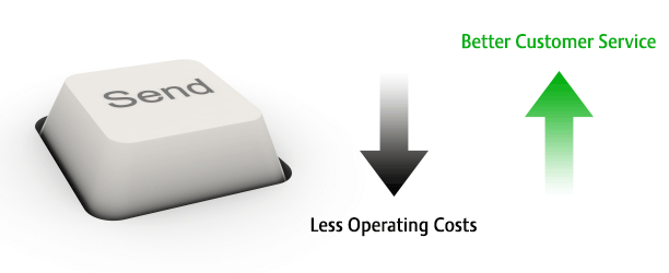 One-click send reduces operating costs and improves customer service!