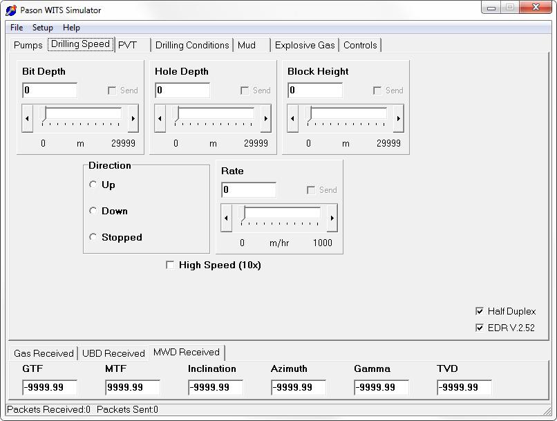 GUI - Pason WITS Simulator